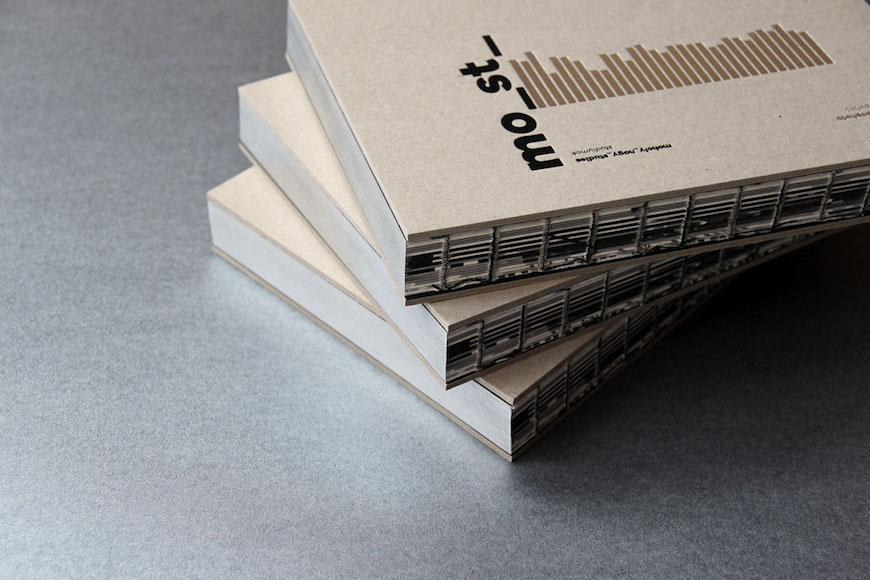 Photograph of a stack of mo_st books on a table.
